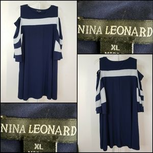 Nina Leonard Dresses - Nina Leonard Woman New Cold Shoulder Stretch Dress